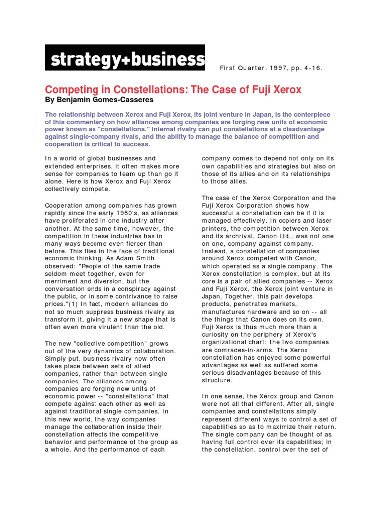 "xerox analysis Xerox corporation (xerox or ""the company"") offers business process and document management solutions the company operates in 160 countries across the world."
