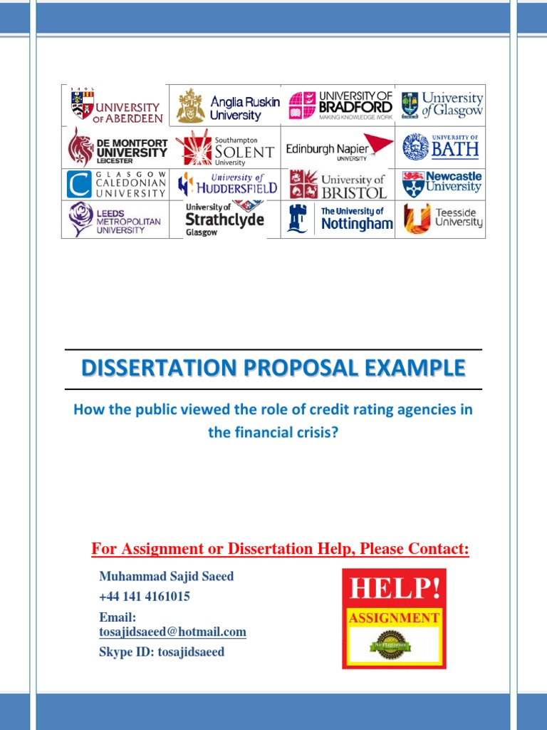 examples of dissertation proposal