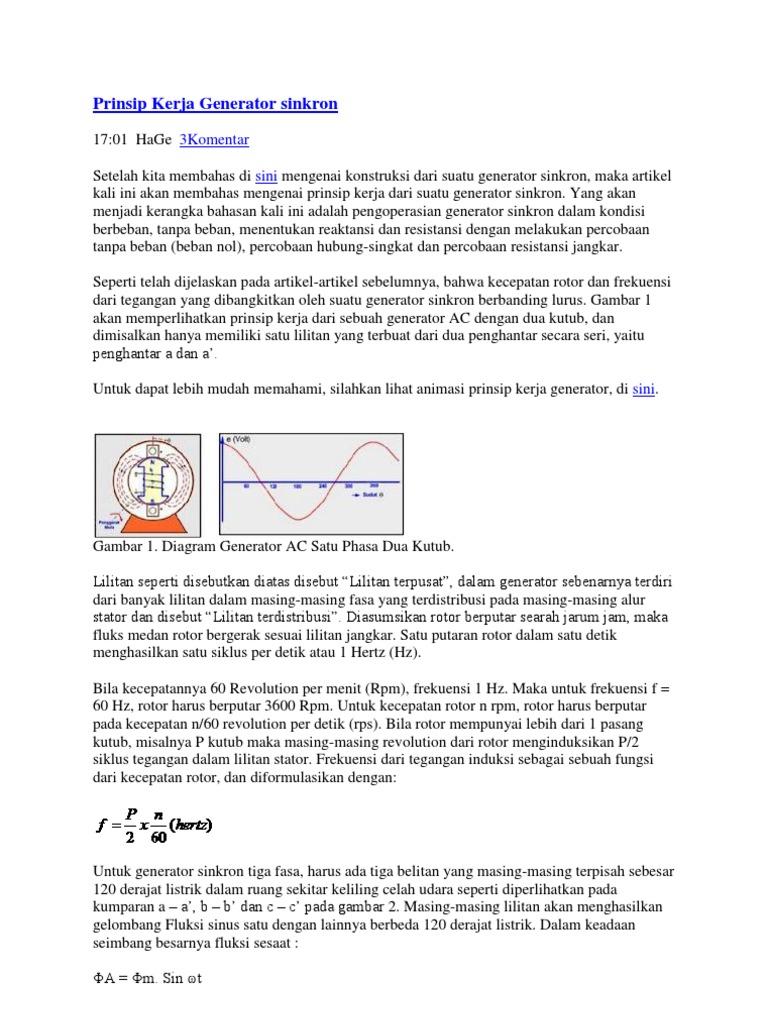 Download Prinsip Kerja Generator Sinkron Docsharetips