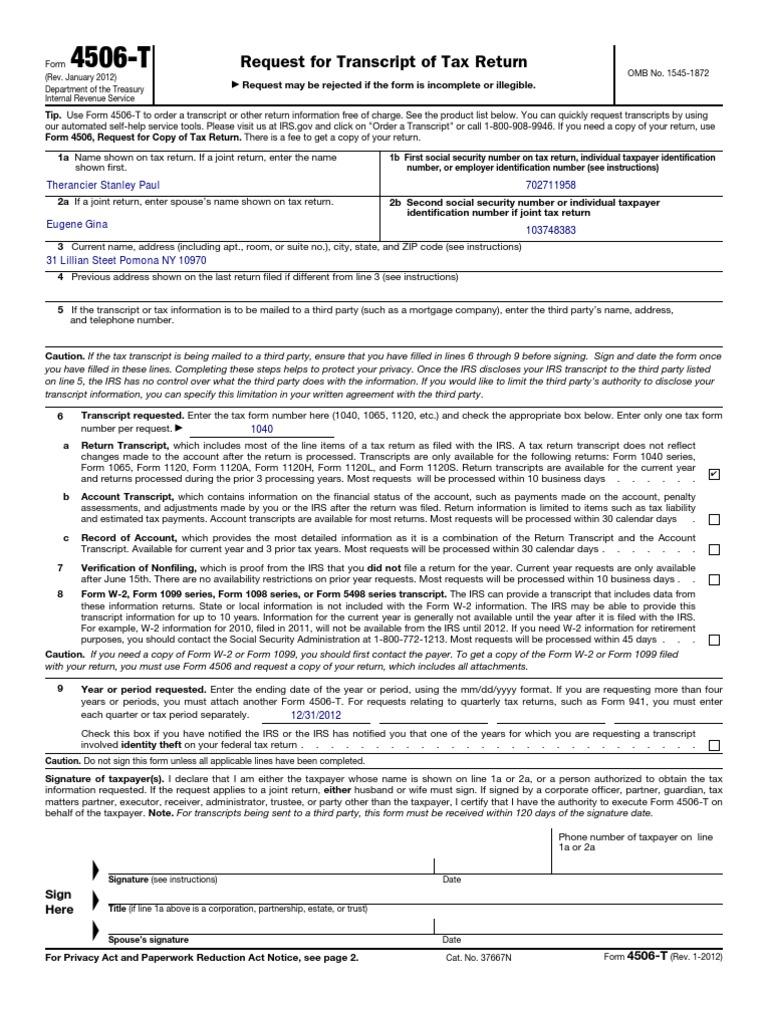 Www.irs.Gov Pub Irs-PDF f4506t - DocShare.tips
