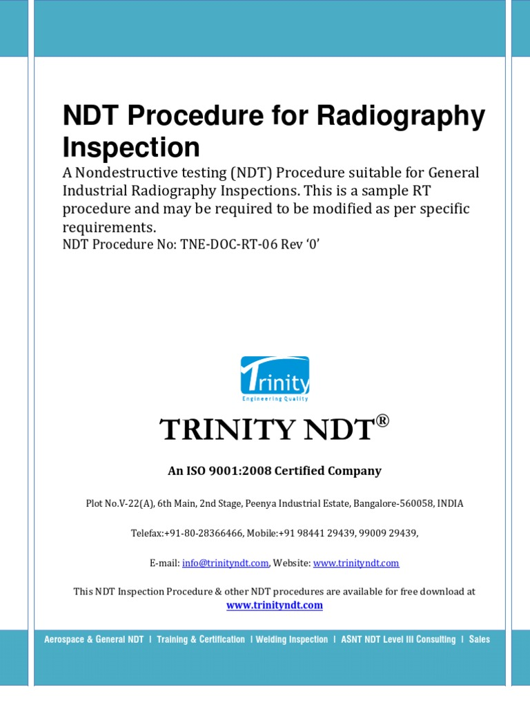 non destructive testing resume examples radiography test inspection