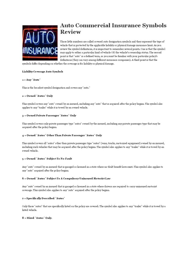 Download Covered Auto Designation Symbols Docshare