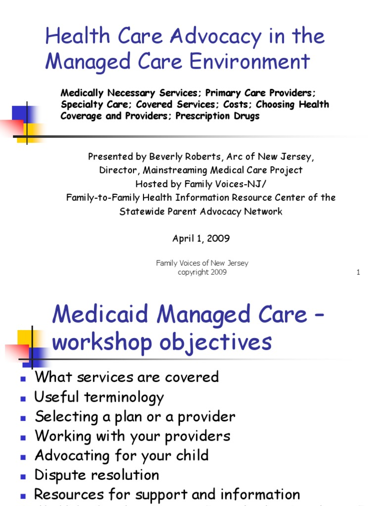Medicaid Managed Care Teleconf- For SPAN- 4-1-09%5B1%5D