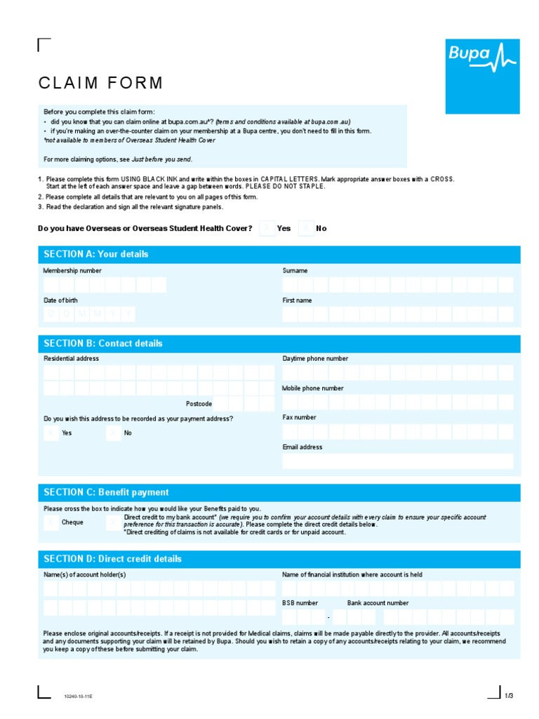 medical claim form docsharetips
