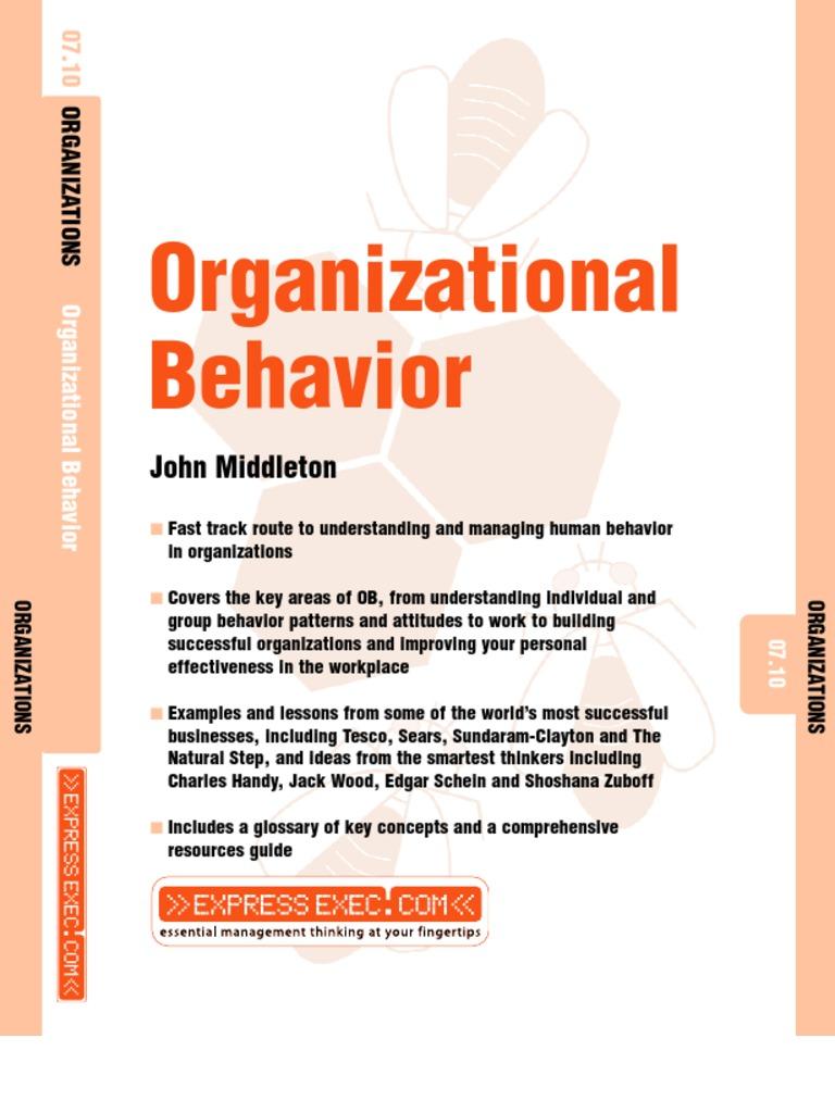 organizational behavior paper 1