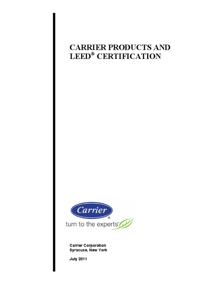 Carrier LEED Product - DocShare tips