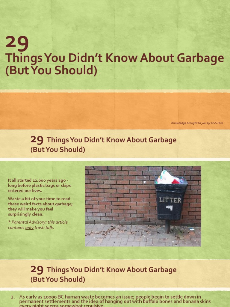 29 Things You Didn t Know About Garbage But You Should Download Poster  improper Garbage. Maps Tracking You Here39s How   makitaserviciopanama com