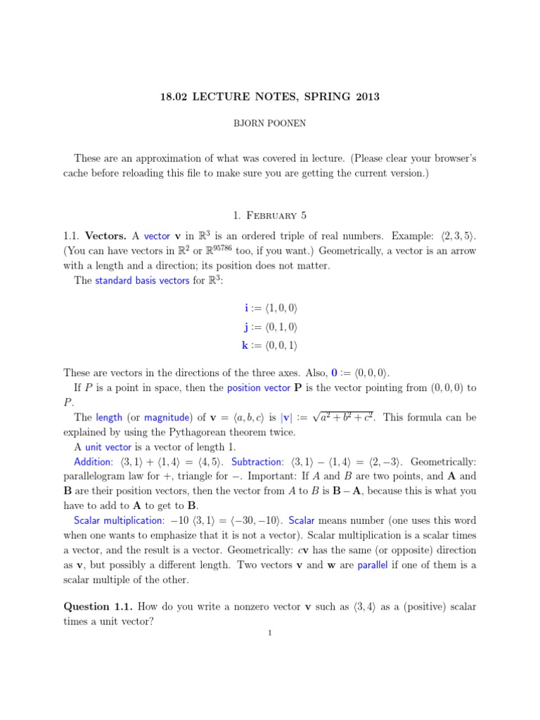 Download Multivariable Calculus Lecture Notes - DocShare tips