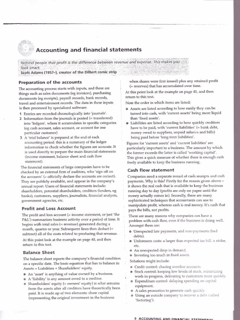 proforma of profit and loss account and balance sheet