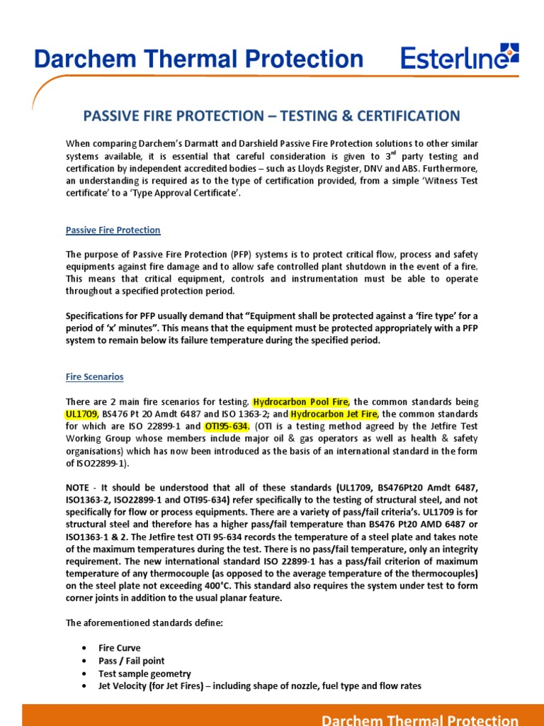 Passive Fire Protection Testing & Certification - DocShare.tips
