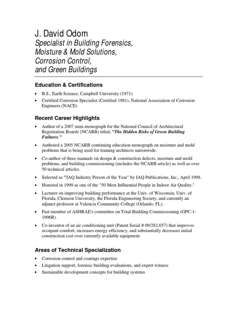 David Odom Resume - DocShare.tips