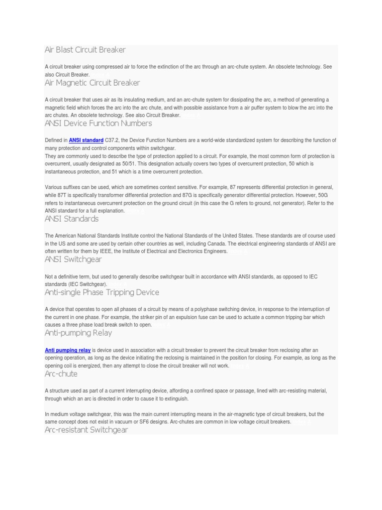 Download Vacuum Circuit Breaker Electrical Standards Working Principle And Recommended