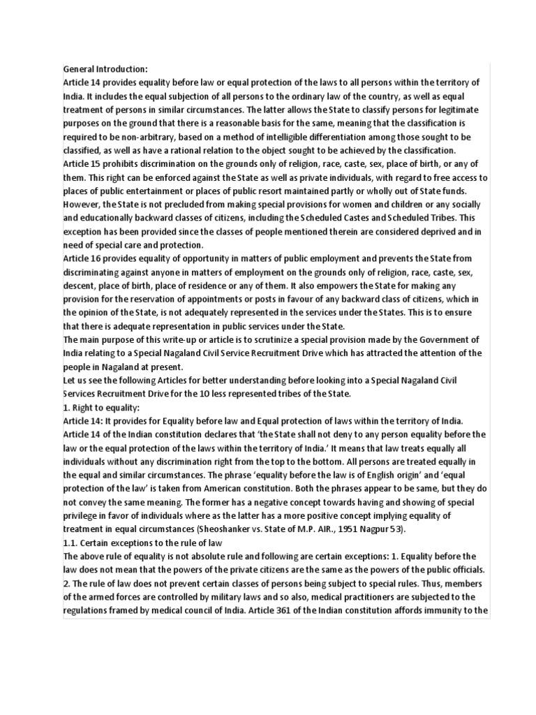 discrimination in india essay