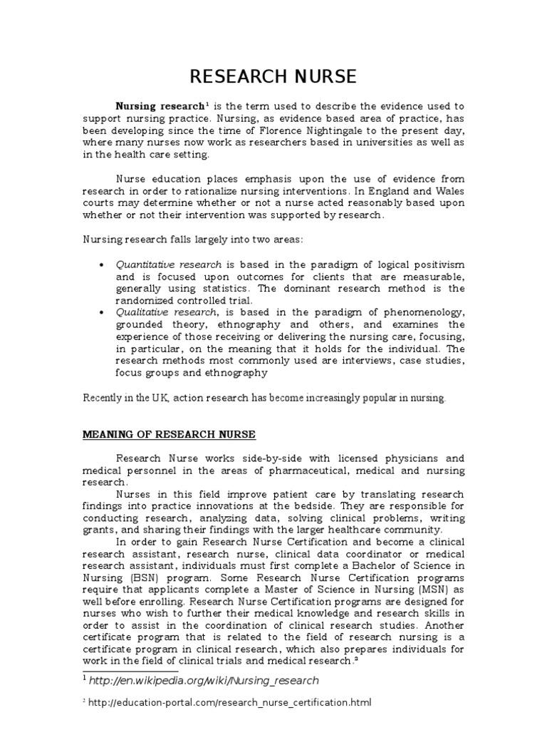 quantitative nursing research paper Bachelor in science (nursing) (bsc (cur)) research proposal a qualitative research study investigating nurses.