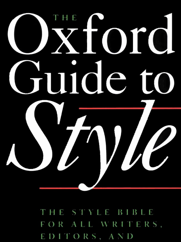 new harts rules the oxford style guide