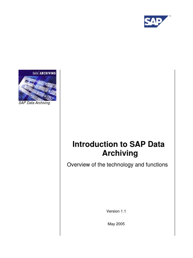 Download Introduction to SAP Data Archiving - DocShare tips