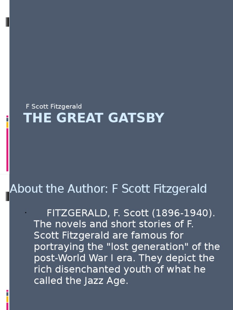 great gatsby narration analysis N the novel the great gatsby by f scott fitzgerald, there is a definitive line in the narrative structure of this work while reading this novel, one can follow the events from start to finish without having to do much guess-work in between.