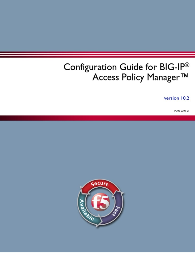 Configuration Guide for BIG-IP Access Policy Manager