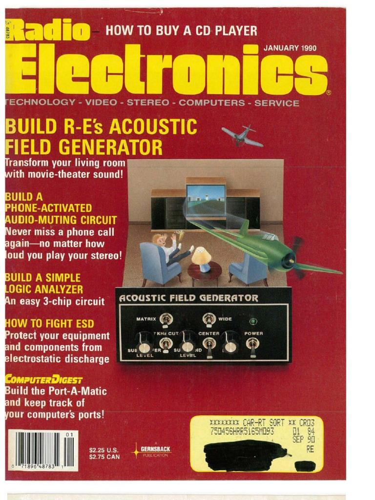 Radio Electronics January 1990 Light Laser Led Gt Circuits Running Message Board Cd4017