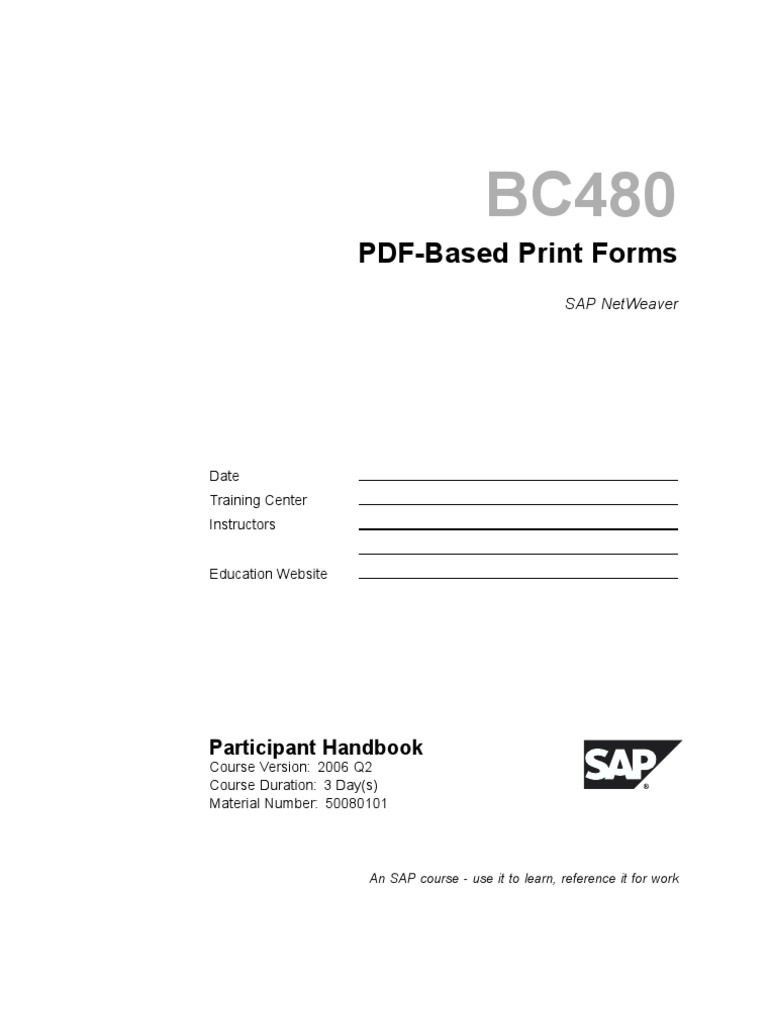 BC480 - PDF-Based Print Forms - DocShare tips
