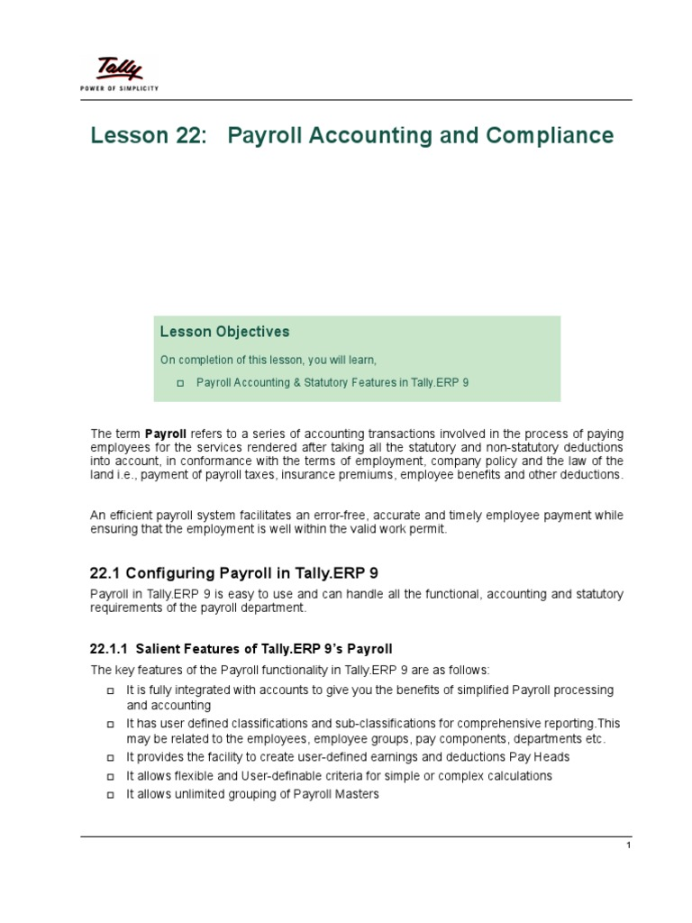 payroll literature review