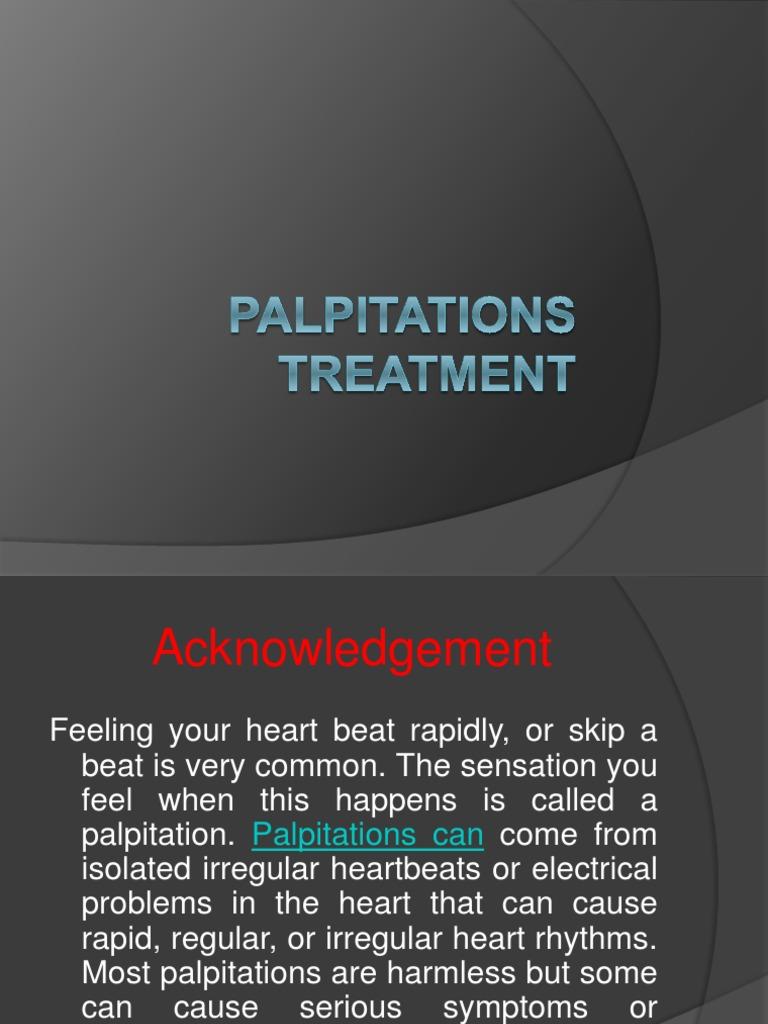 Palpitations Treatment Ppt - DocShare tips