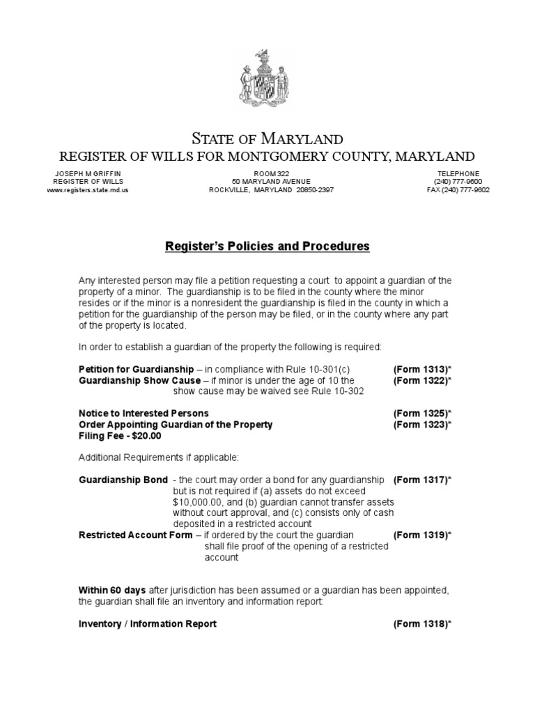 Guardianship Form | Montgomery County Guardianship Forms Docshare Tips