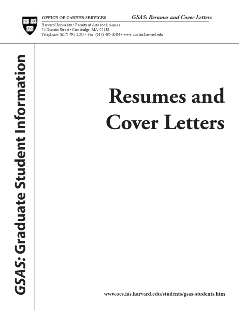 harvard career services cover letter