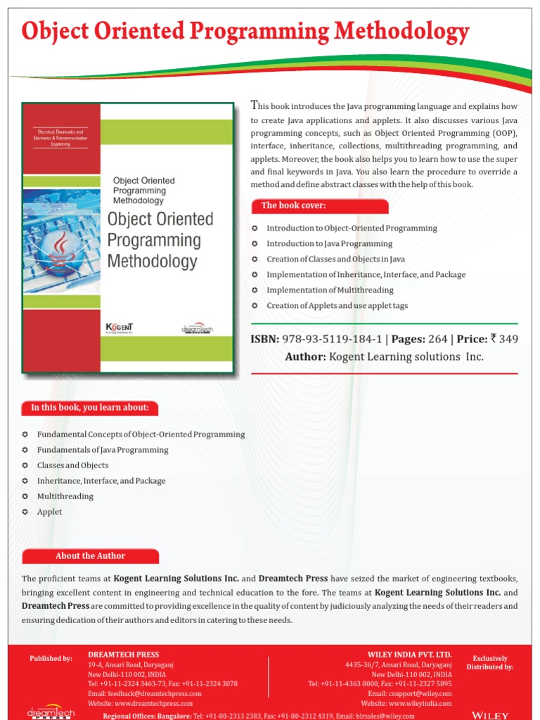object oriented methodology paper bsa400 The object-oriented model for a development process and customizations of the method object orientation also guarantees the object-oriented model for.