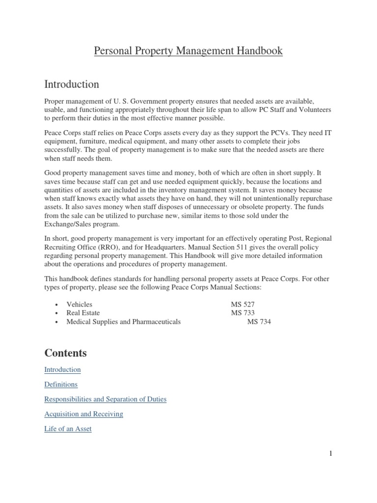 Download Peace Corps Training Manager Statement of Work - Personal ...