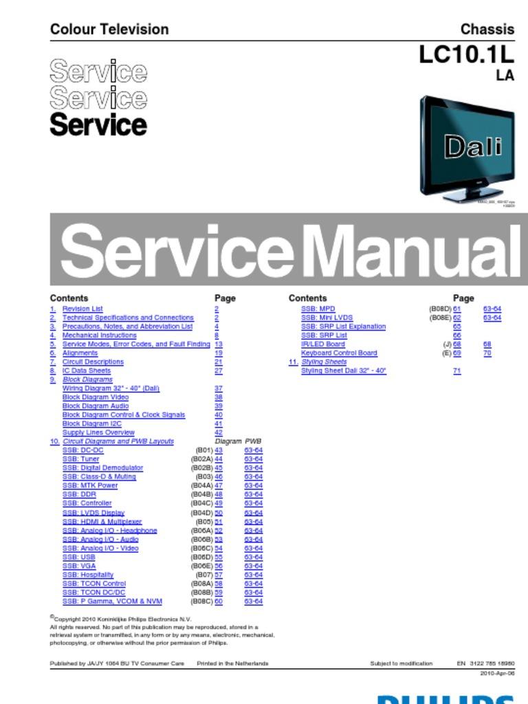 32PFL3605D-40PFL3605D ESQUEMA - DocShare tips