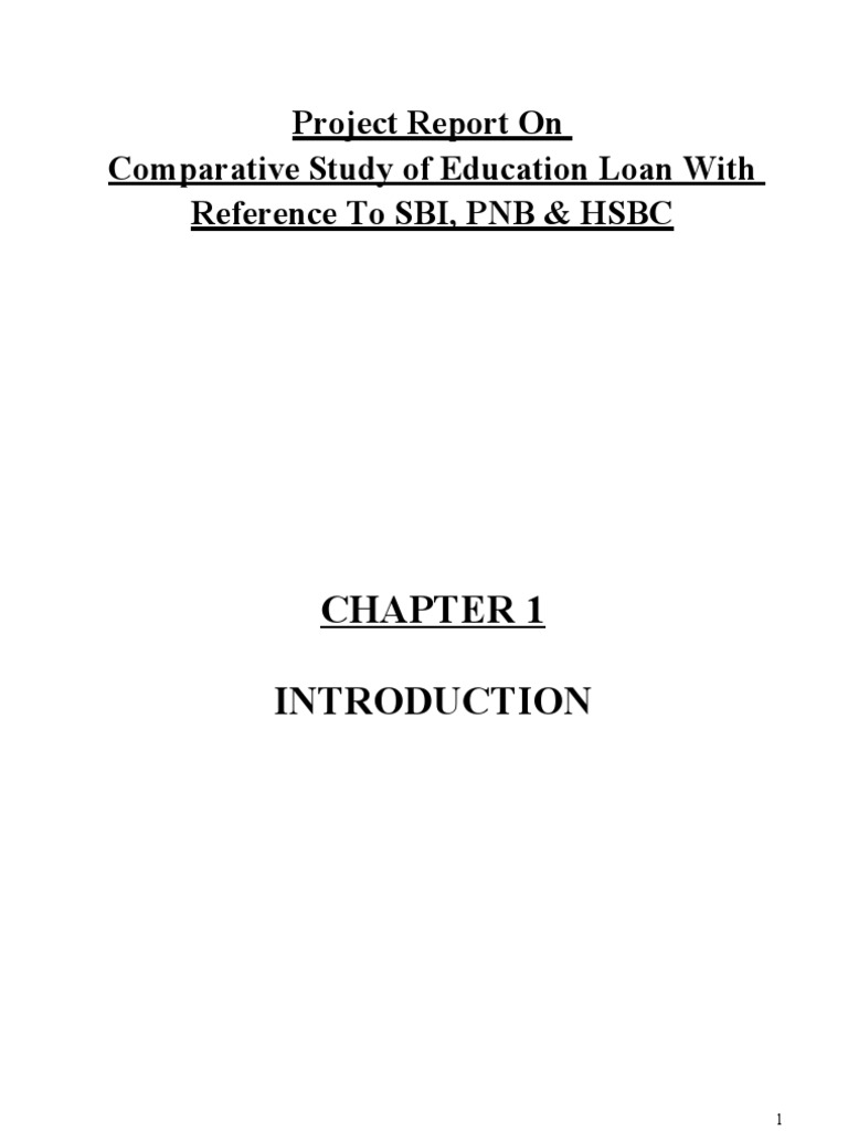 Download Education Loan With Reference to SBI, PNB & HSBC