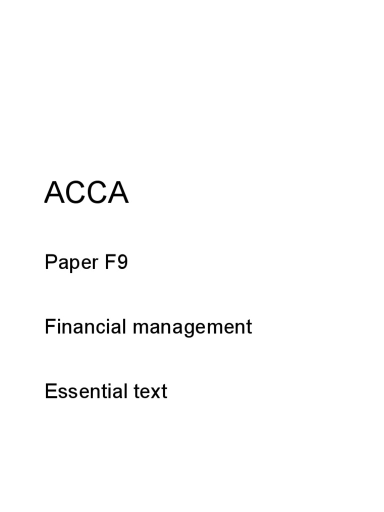 Acca f9 essential text d09 j10 docshare fandeluxe Gallery