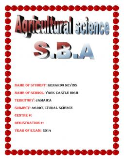 agricultural science sba Download and read agricultural science sba crop production agricultural science sba crop production what do you do to start reading agricultural science sba crop production.