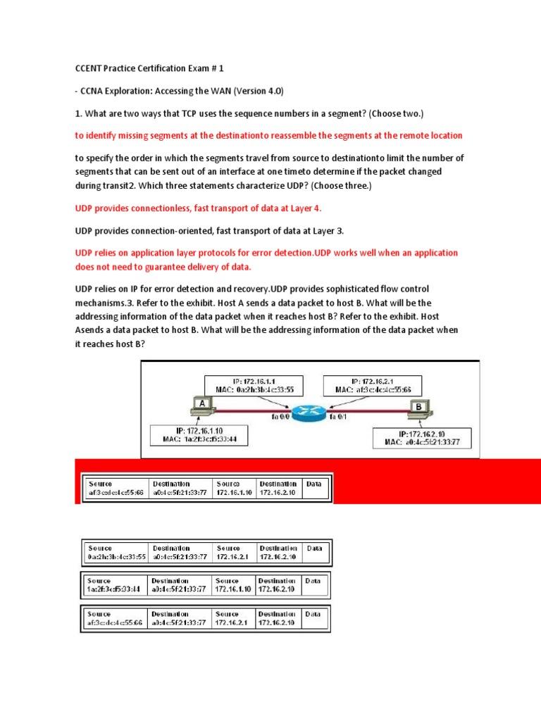 Ccent Practice Certification Exam Docshare