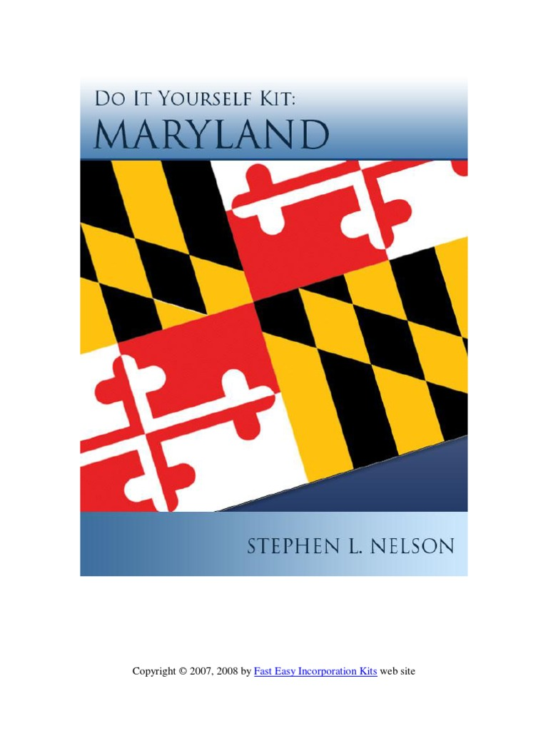 Download maryland do it yourself incorporation kit docshare solutioingenieria Choice Image