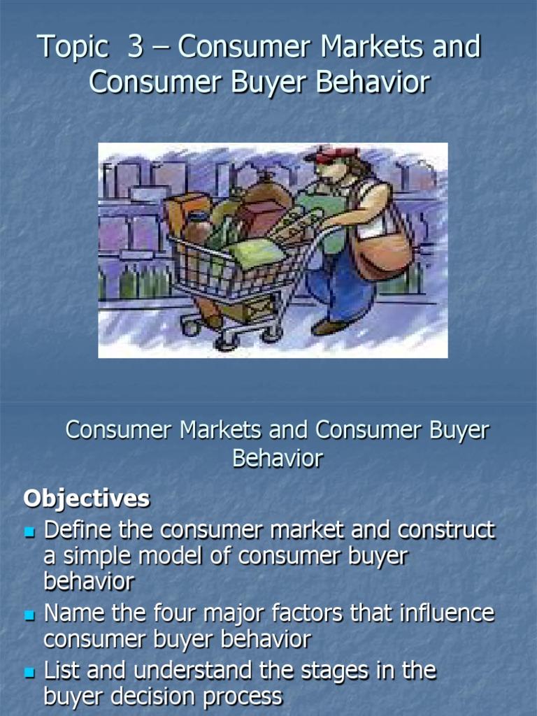 buying behaviour for consumer market