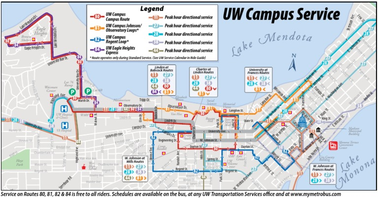 Download University Of Wisconsin Madison Campus Service Map