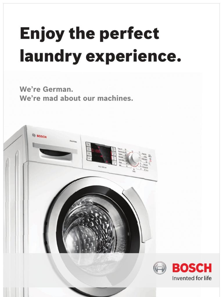 Bosch Washing Machine Brochure