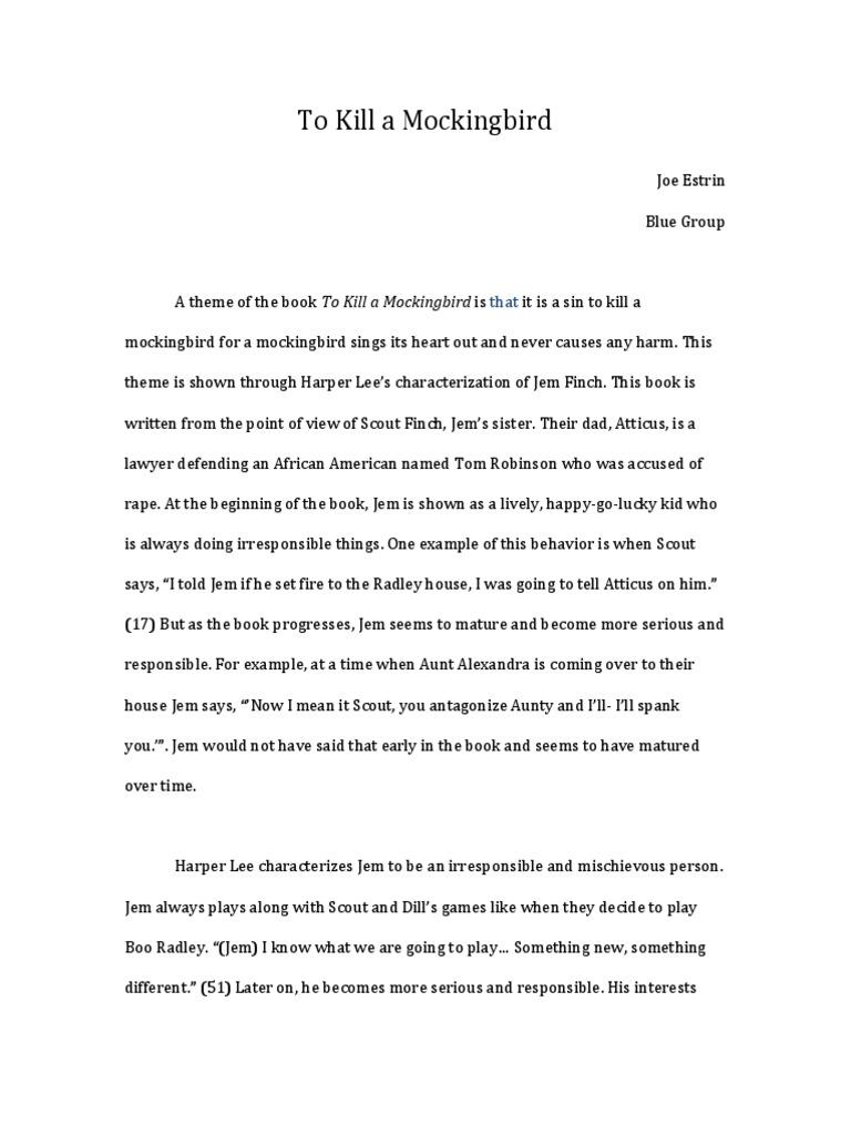 to kill a mockingbird scout maturity essay Searching for scouts maturity in to kill a mockingbird essays find free scouts maturity in to kill a mockingbird essays, term papers, research papers, book reports.