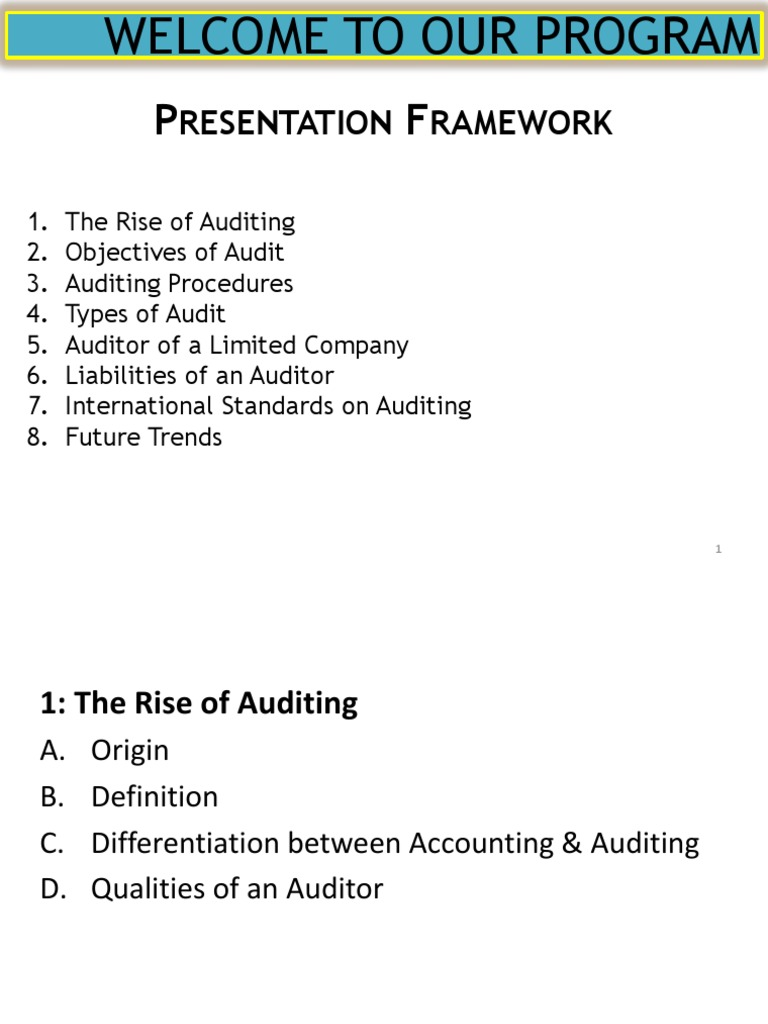 Auditing - DocShare tips