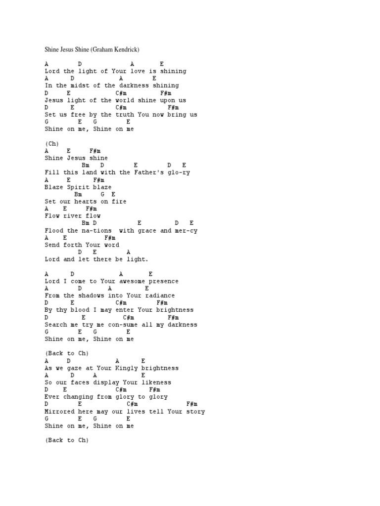 Download Shine Jesus Shine Guitar Chord Docshare