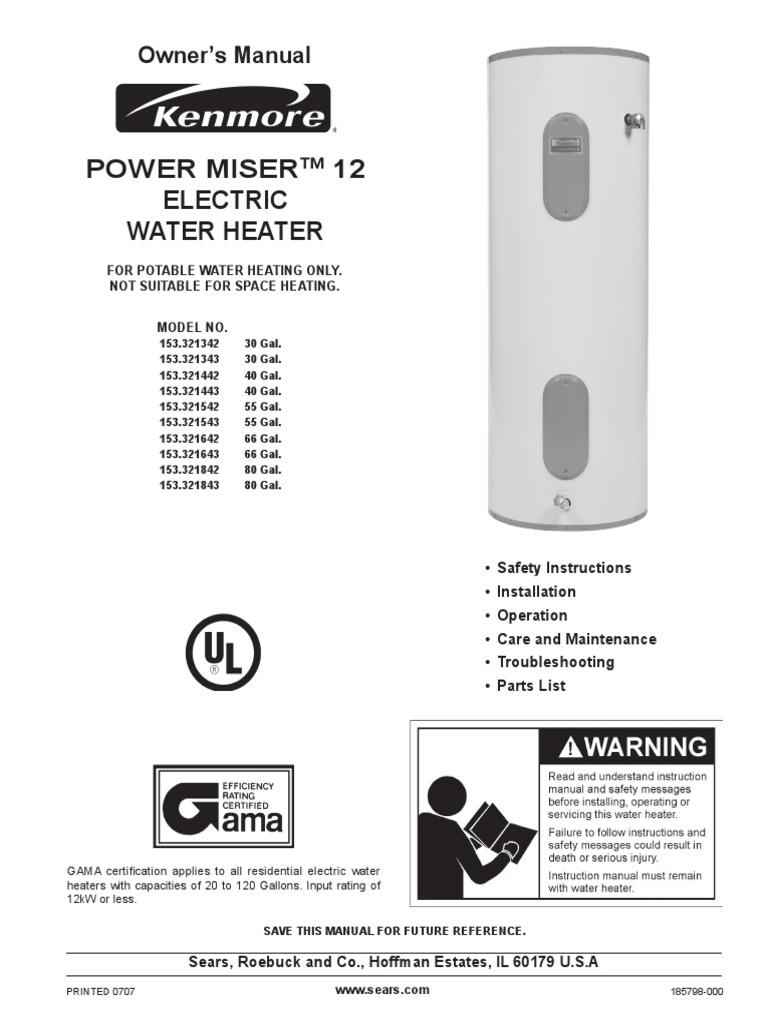 Kenmore Electric Water Heater Wiring Diagram : Sears electric water heater wiring diagram trusted