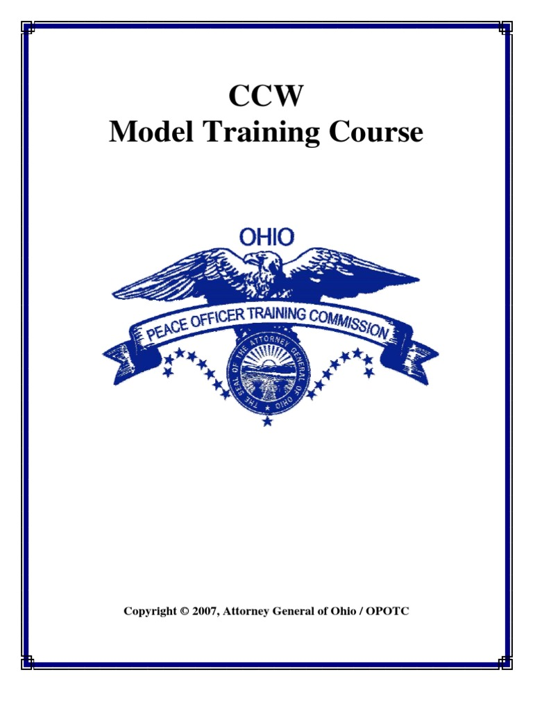 Concealed Carry Weapons Curriculum