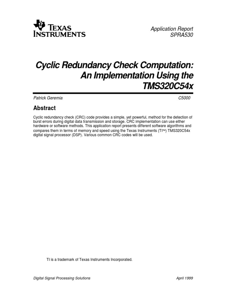 cyclic redundancy check