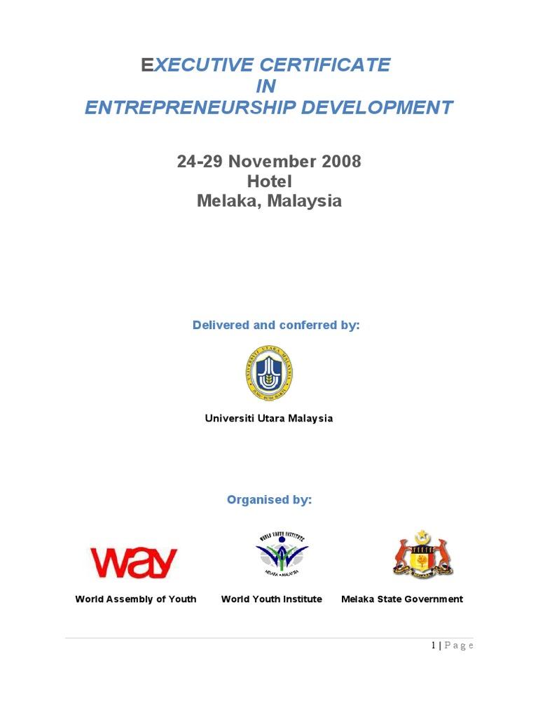 Download Role Of Maharashtra Centre For Entrepreneurship Development