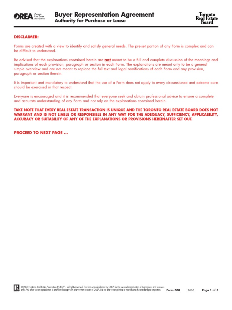 Buyer Representation Agreement Docshare