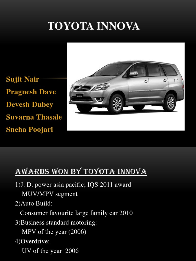 toyota innova targeting position strategy Another reason why this is being is done is the strategy of ashok leyland a good example of firms targeting commercial toyota innova has been one of.