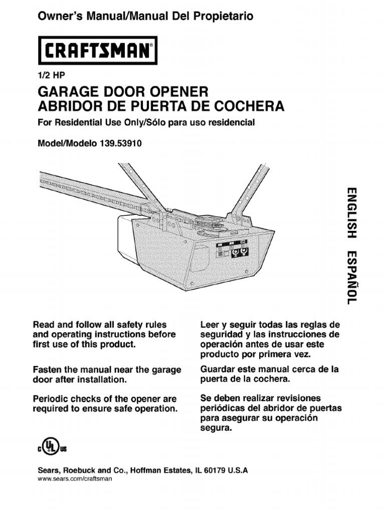Craftsman garage door opener model 139 536 28 images for 10 flashes on garage door opener
