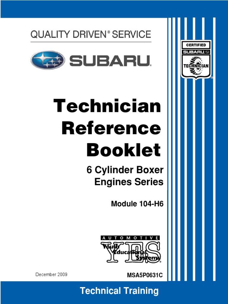 Subaru Outback Technician Manual 2000 Fan Belt